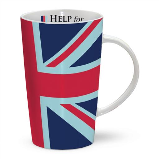 Latte Mug - Help For Heroes Union Jack
