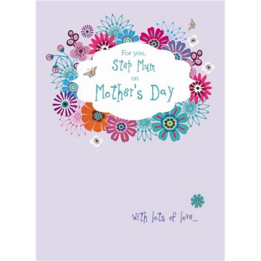 Mother's Day Card - Flowers (Step Mum)