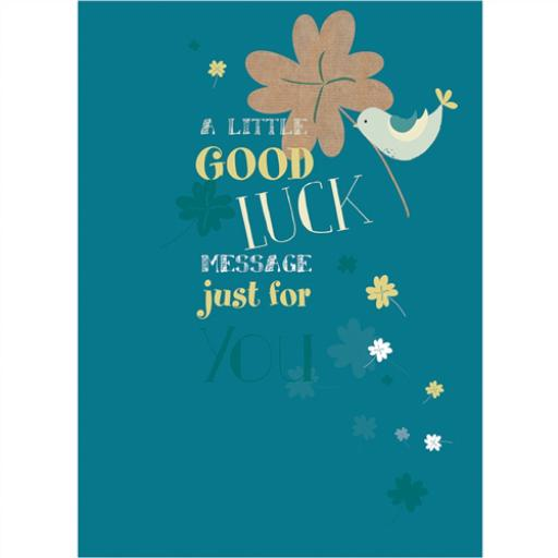 Good Luck Card - Lucky Bird & Clover