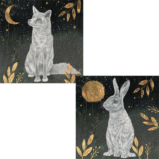 RSPB Luxury Christmas Card Pack - Enchanted Moonlight