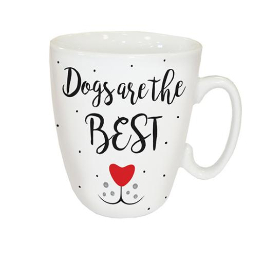Curved Mug - Dogs Are Best