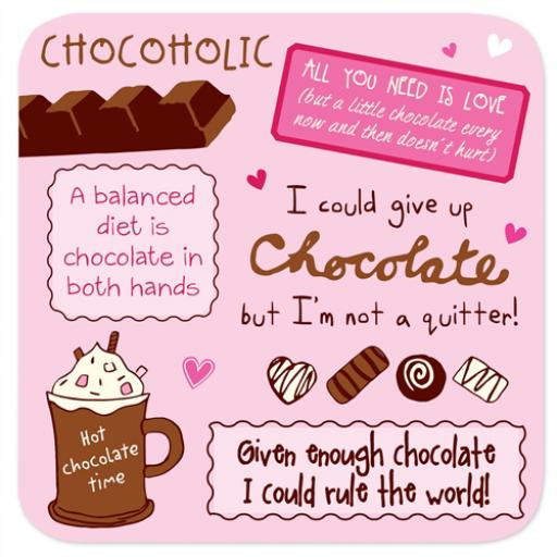 Coasters - Perfect Gifts For Him & Her Chocolate