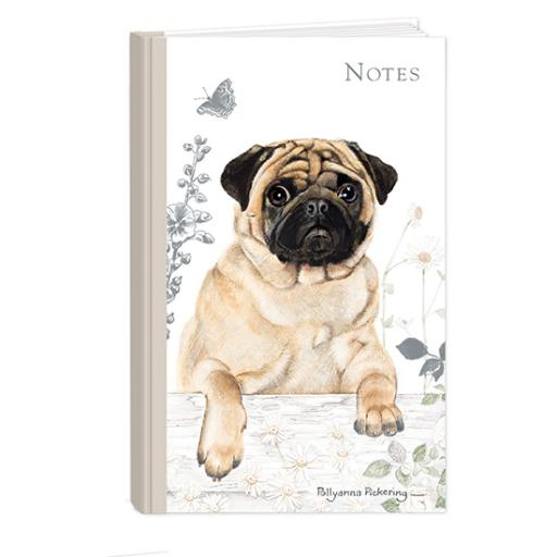 Pollyanna Pickering Stationery - Hardcover Notebook (A6 - Pug)