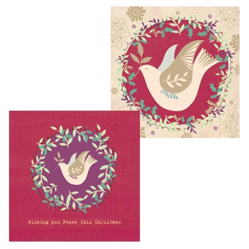 Luxury Christmas Card Pack - Peace On Earth
