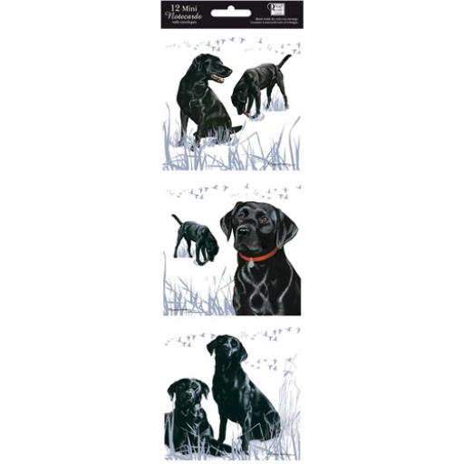 Hanging Notecard Pack - Black Labradors