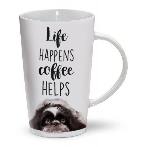 Latte Mug - Life Happens