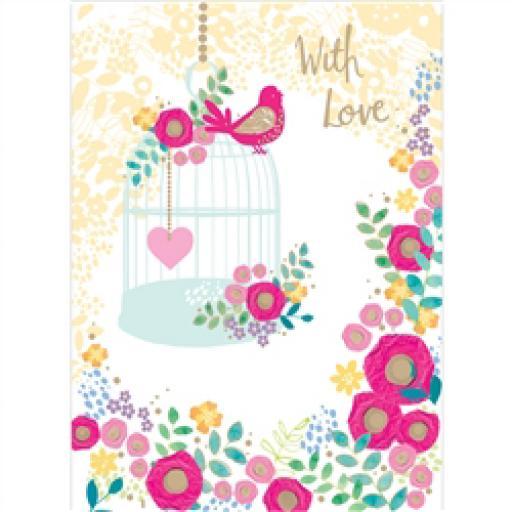 Rose Gold Card - Bird Song Serenade