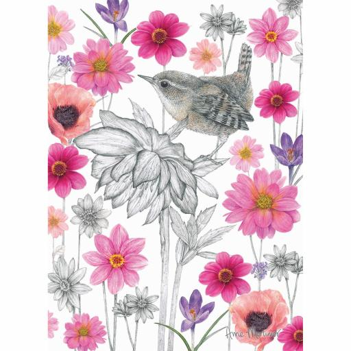 RSPB Card - In the Flowers - Wonderful Wren