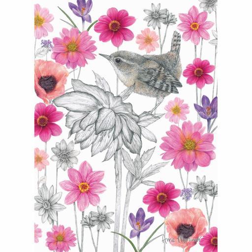 RSPB Card - In the Flowers - Wonderful Wren