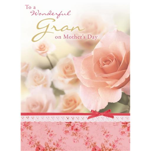 Mother's Day Card - Peach Roses (Gran)