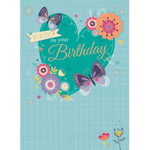 Poppy Davis Card - Butterfly Heart