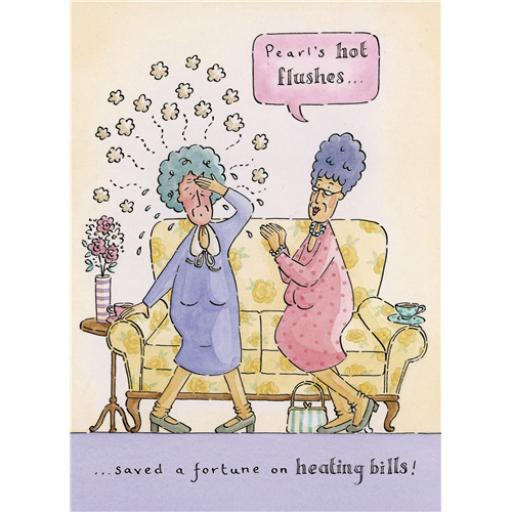 Blue Rinse Card - Hot Flushes