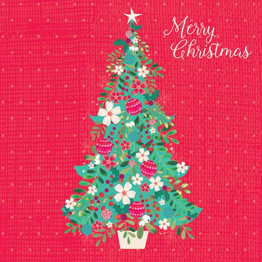 Charity Christmas Card Pack - Festive Tree