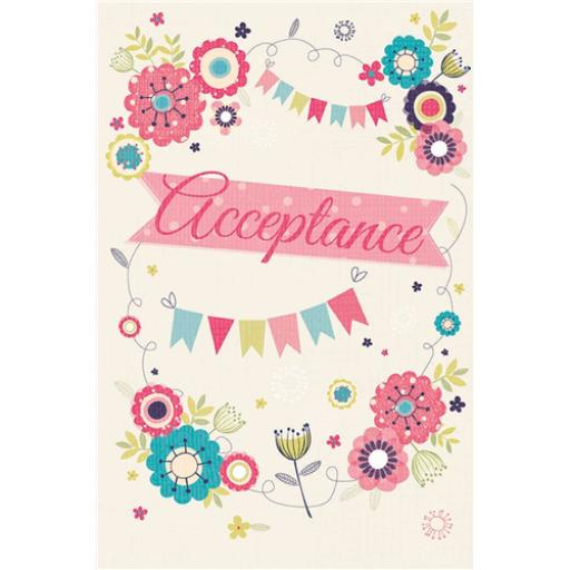 Wedding Acceptance Card - Floral & Bunting