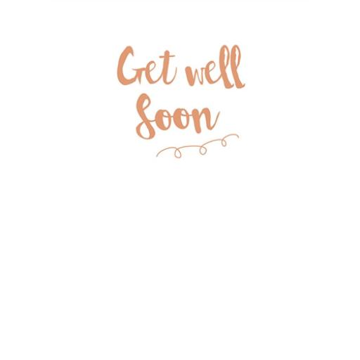 Get Well Soon Card - Embossed Text