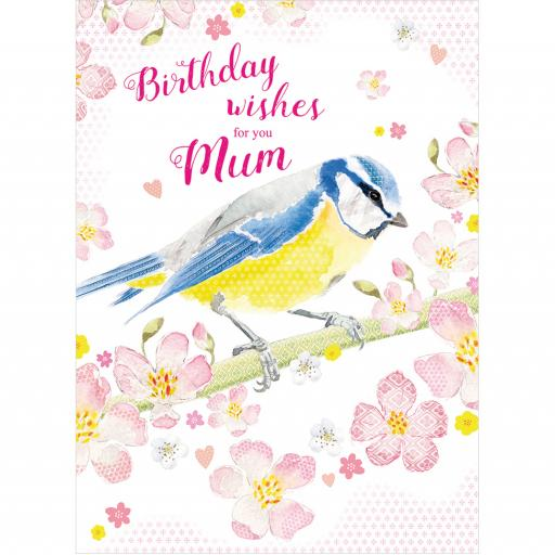 Family Circle Card - Blue Tit & Blossom (Mum)