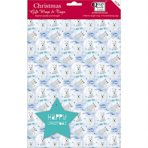 Christmas Wrap & Tags - Winter Wonderland Westie