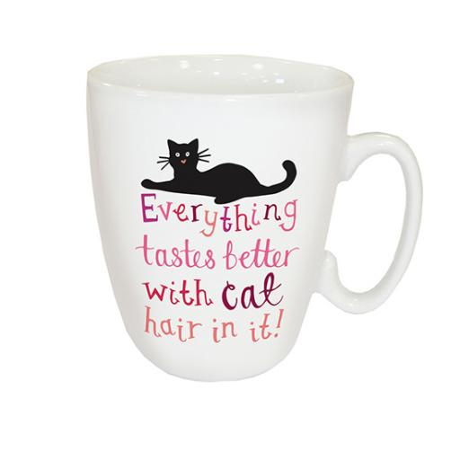 Curved Mug - Cat Hair