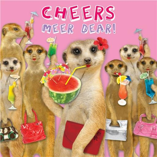 Pet Pawtrait Card - Cheers Meer Dear! (Birthday Card)