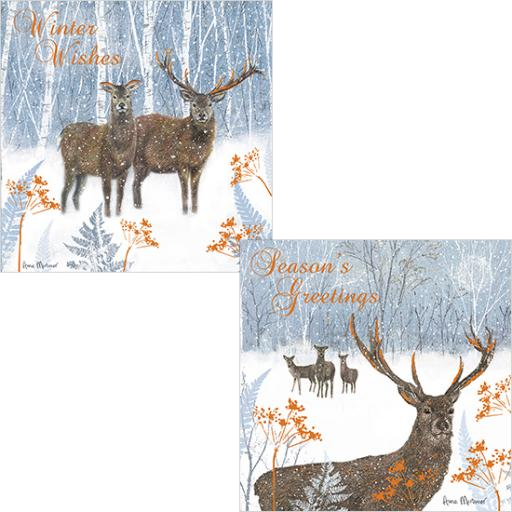 Luxury Christmas Card Pack - Winter Stag