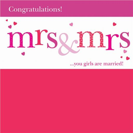 Wedding Card - Mrs & Mrs