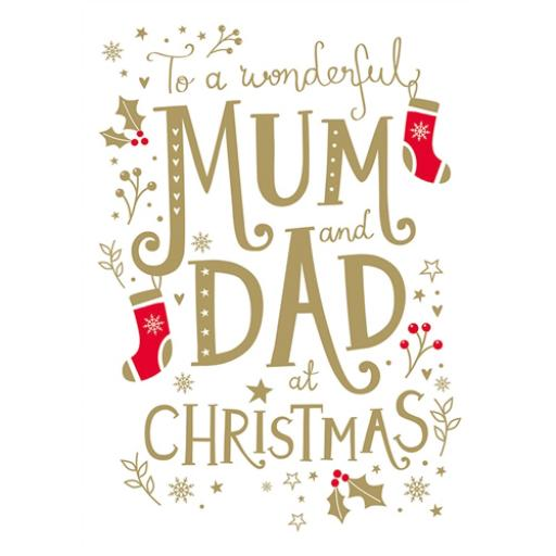 Christmas Card (Single) - Text (Mum & Dad)