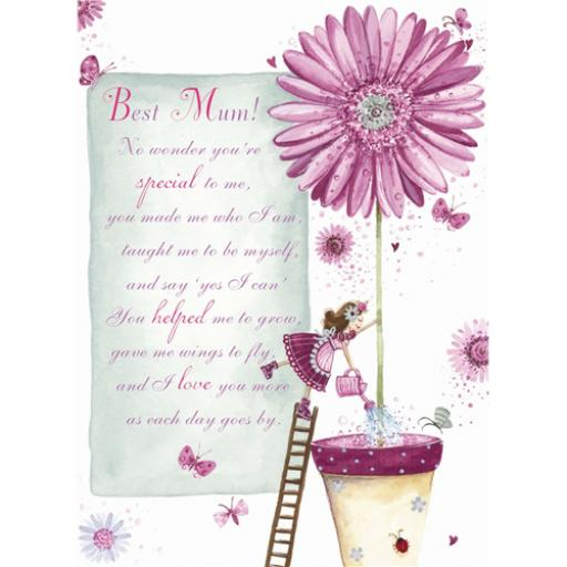 Sentiments Card - Best Mum