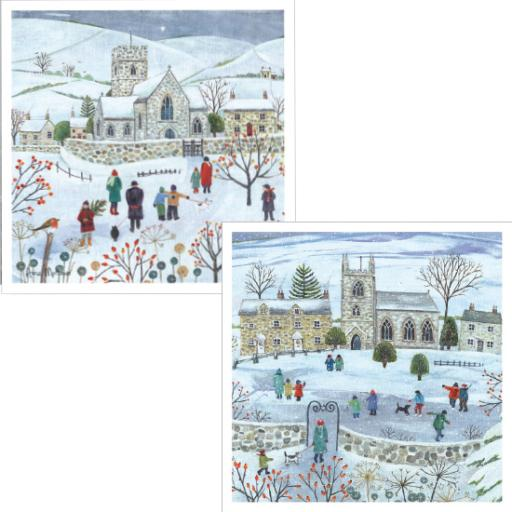 Luxury Christmas Card Pack - Winter Village