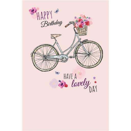 Dinkies Mini Card - Floral Bike