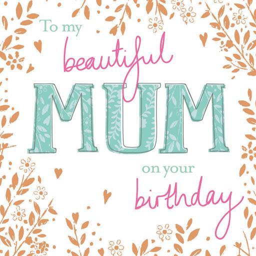 Family Circle Card - Birthday Text (Mum)