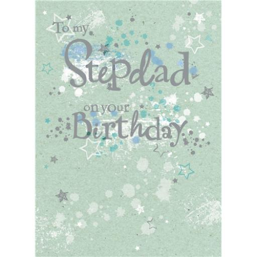 Family Circle Card - Graffiti Text (Stepdad)