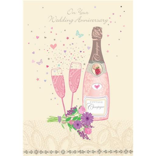 Anniversary Card - Champagne (Your)