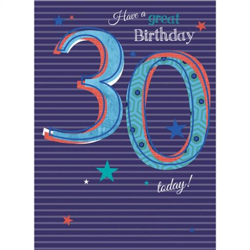 Special Birthdays Card - 30 Male