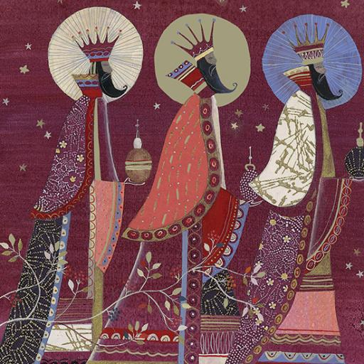 RSPB Small Square Christmas Card Pack - Three Wise Men