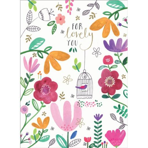 Marie Curie Card (Range 2) - Floral Birdcage