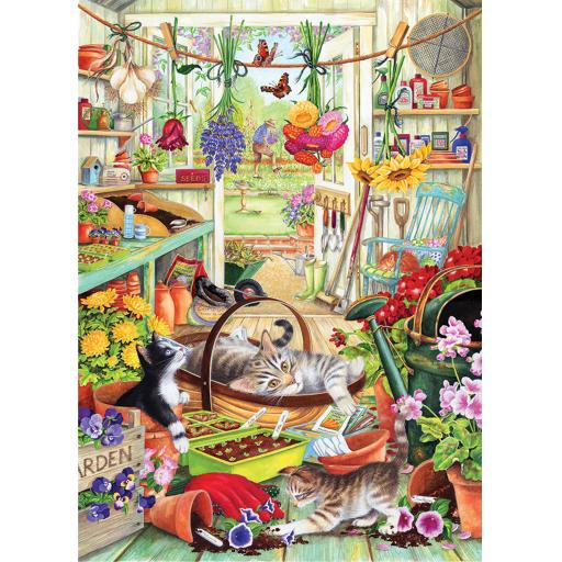 Rectangular Jigsaw - Allotment Kittens