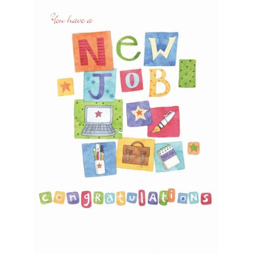 Congratulations Card - New Job Icons