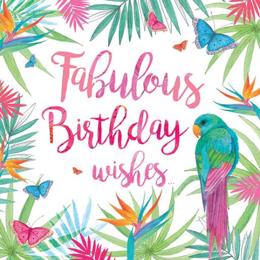 Summer Tropics Card - Fabulous Parrot