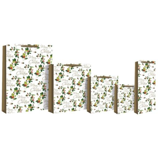 Christmas Gift Bags (Large) - Holly
