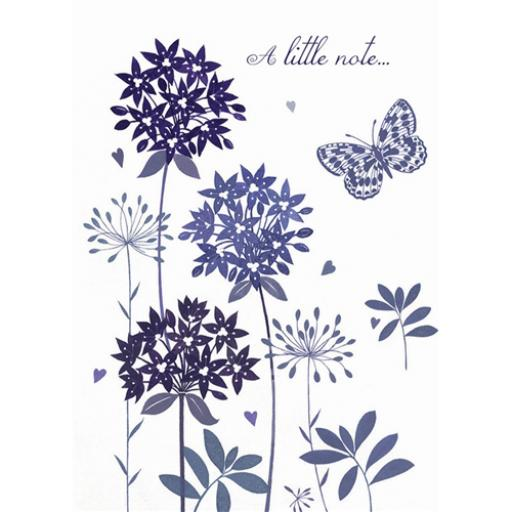 Notecard Pack - Alliums & Butterfly