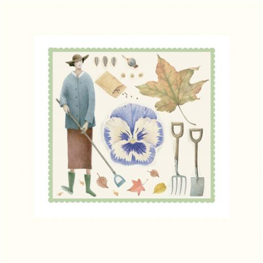 Garden Days Card - Autumn Leaves