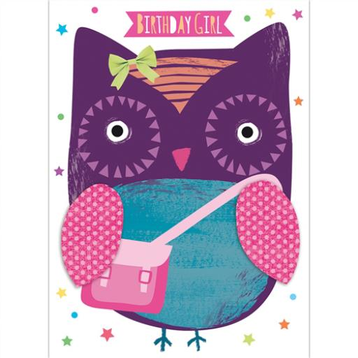Hip Hip Hooray Card - Olga The Owl