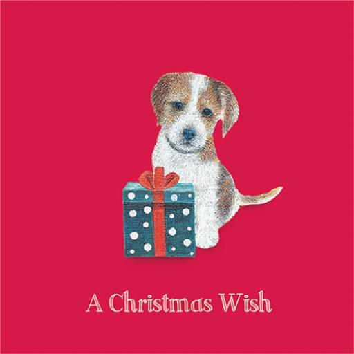 Charity Christmas Card Pack - Puppy & Present