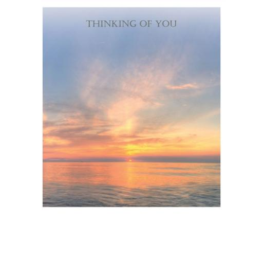 Thinking Of You Card - Sunset