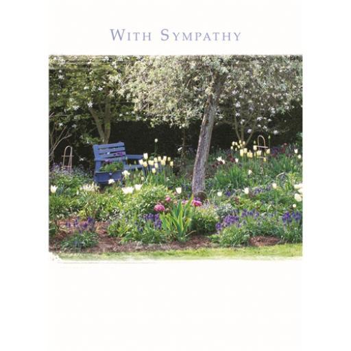Sympathy Card - Garden Seat