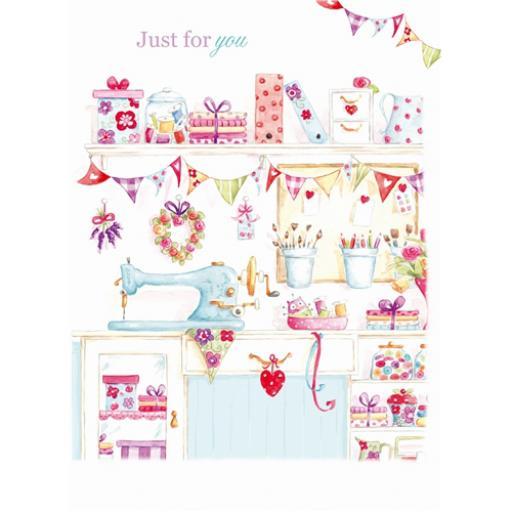 Teacups & Trinkets Card - Stitch & Sew