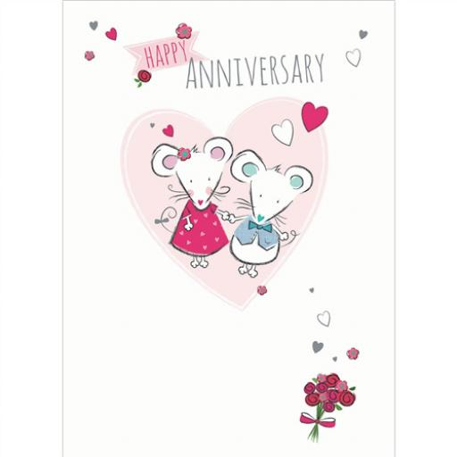Anniversary Card - Cute Mice (To You Both)