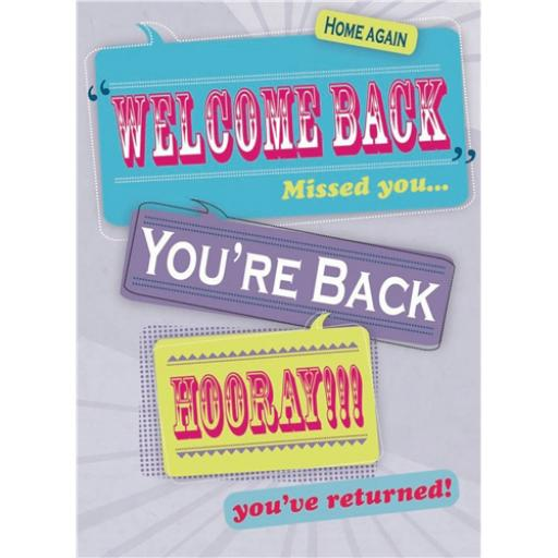 Welcome Back Card - Welcome Back