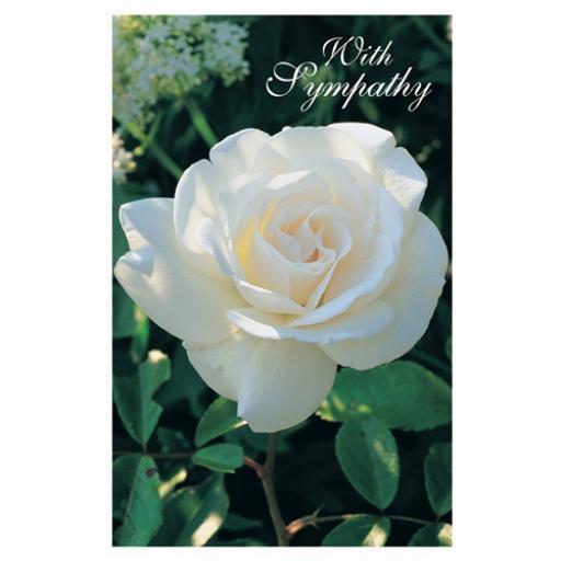 Sympathy Card - White Floral