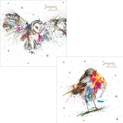 RSPB Luxury Christmas Card Pack - Starry Greetings